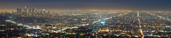 LA night panorama
